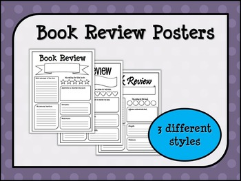 Book Review Posters (3 styles)