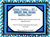Book Review Question Stems