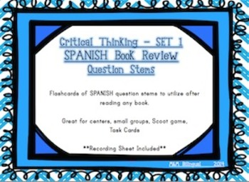 Book Review Question Stems *Bilingual*