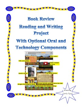 Book Review Reading & Writing Project with Optional Oral &
