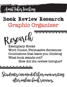 Book Review Research Graphic Organizer