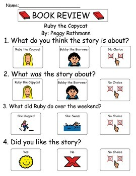 Book Review - Ruby The Copycat
