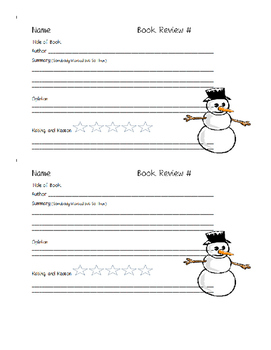 Book Review Sheets