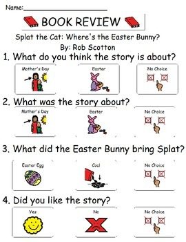 Book Review - Splat the Cat - Where's The Easter Bunny