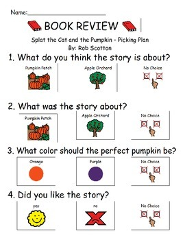Book Review - Splat the Cat and the Pumpkin-Picking Plan