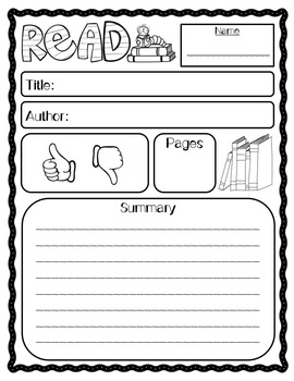 Book Review Student Worksheet