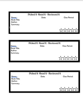 Book Review Tags