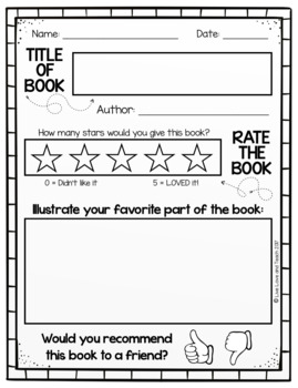 book review template free by live love and teach tpt