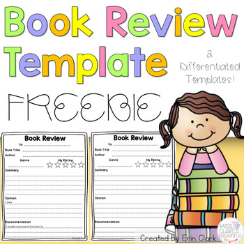 book review template free by erin clark teachers pay teachers. Black Bedroom Furniture Sets. Home Design Ideas