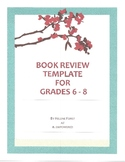 Book Review Template For Grades 6 - 8