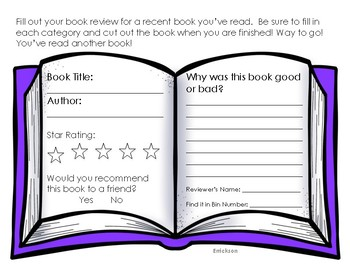 Book Review Template: Great for Bulletin Boards!