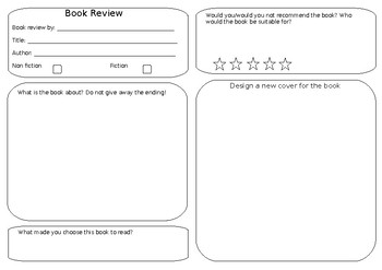 Book Review Template | Book Review Template Simple By Kat S Resources Tpt