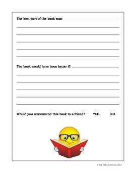 Book Review Template:  Simple Book Review Template for Library, Classroom