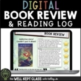Book Review Template and Reading Log | Distance Learning