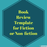 Book Review Template for Fiction or Non-Fiction