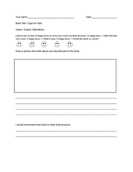 Book Review Template for Primary