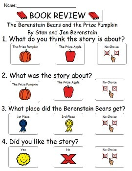 Book Review - The Berenstain Bears and the Prize Pumpkin