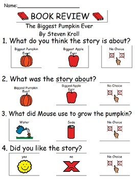 Book Review - The Biggest Pumpkin Ever