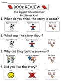 Book Review - The Biggest Snowman Ever