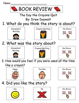 Book Review - The Day the Crayons Quit