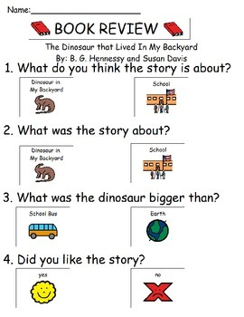 Book Review - The Dinosaur that Lived In My Backyard