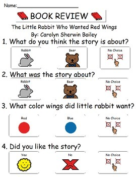 Book Review - The Little Rabbit Who Wanted Red Wings