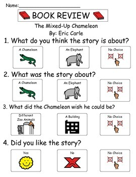 Book Review - The Mixed up Chameleon