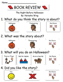 Book Review - The Night Before Halloween By: Natasha Wing