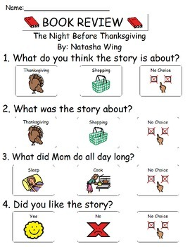 Book Review - The Night Before Thanksgiving