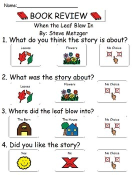 Book Review - When the Leaf Blew In