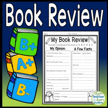 Book Review template: Write a Review for any Book! Book Re
