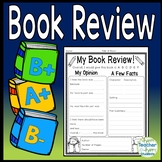 Book Review template: Write a Review for any Book! (Book Review Book Report)