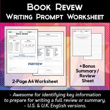 Book Review Worksheet Teachers Pay Teachers