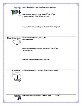 Book Review Worksheet Form