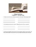 Book Review Worksheet  - Paragraph #1