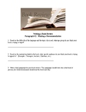 Book Review Worksheet - Paragraph #2