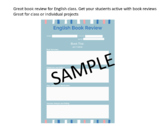 Book Review Worksheet for English Class