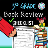 Book Review Writing Checklist (3rd grade standards-aligned) - PDF and digital!!