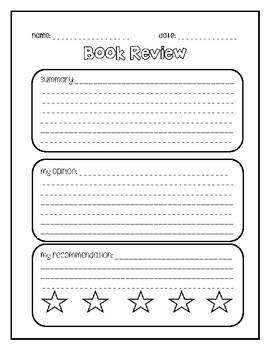 Book Review Writing Paper