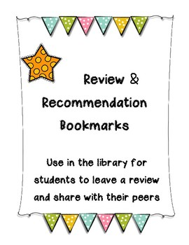 Book Review and Recommendation Bookmarks