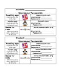 Student Passwords (English/Spanish)