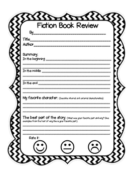 Book Review for Fiction and Nonfiction Books