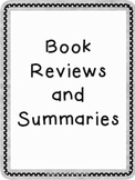 Book Reviews / Summarizing Worksheets Grades 1-5