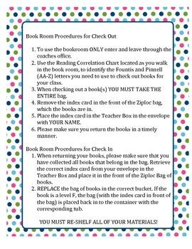 Book Room Procedures