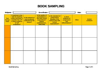 Book Sampling Template