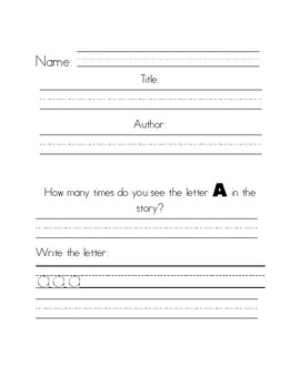 Book Scavenger Hunt with Letters and Sight Words