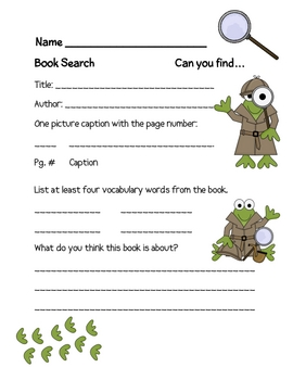 Book Search Activity: Textbook or Non-Fiction    FREE