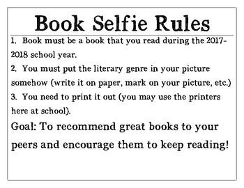 Book Selfie Rules