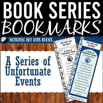 Book Series Bookmarks   A Series of Unfortunate Events