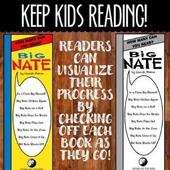 Book Series Bookmarks | Big Nate